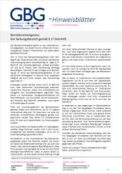 Geltungsbereich des Betriebsrentengesetzes